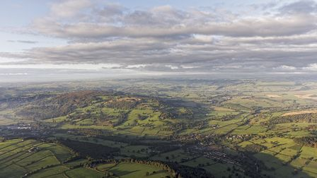 The glorious Derbyshire countryside from above (c) Steven Bramall/Getty Images/iStockphoto