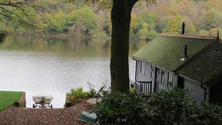 Waterside property and view across the lake. Image: Sally Mosley