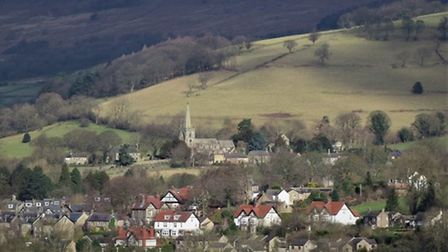 St Michael and All Angels Church overlooks Hathersage (c) Sally Mosely