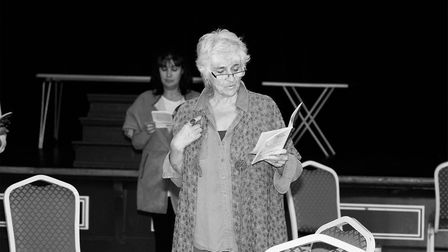 Sylvia Jackson in rehearsals for An Ideal Husband