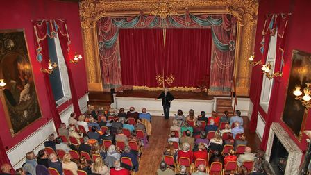 An expectant audience in the grand surroundings of Chatsworth