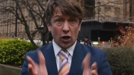 Spoof TV news reporter Jonathan Pie has urged people to vote tactically to get Boris Johnson out in