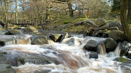Padley Gorge new bridge by Robert Wilson