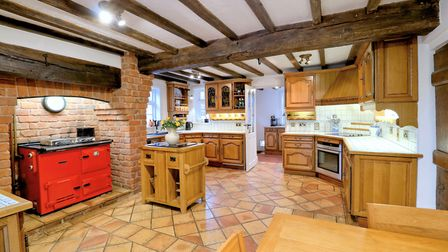 Main Street - Kitchen full view with butchers block and aga