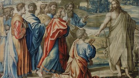 The Mortlake tapestries, Christ's charge to St Peter post conservation