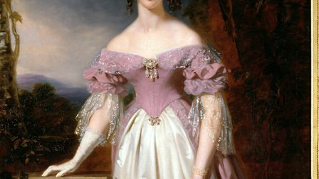 Lady Blanche painted by John Lucas