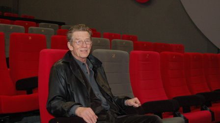 John Hurt at Derby QUAD, where he was a patron