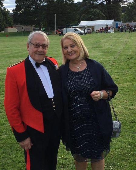 Colonel John Doody with wife Jacqueline