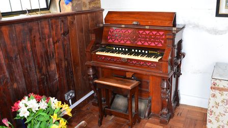 Harmonium inside the church. Image: Simon Elson