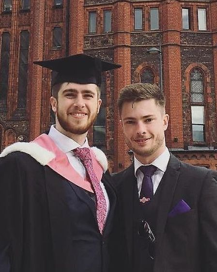 'The teachers at Derby Grammar were a brilliant help to our sons.' Joe and George both attended Derby Grammar School.