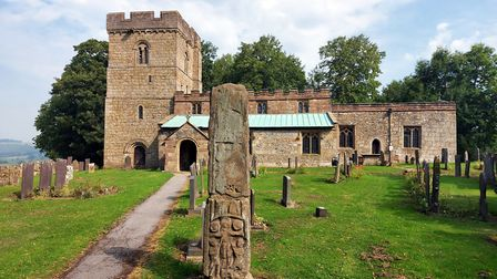 The Church of All Saints and the Saxon Cross