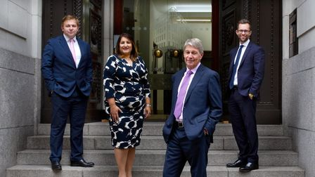 Group shot of Hall Brown family lawyers, including Martin Loxley. Picture: Hall Brown