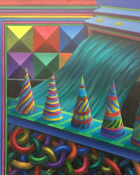 Stephen Pendleton's 'Five Cones', part of the N20G in 2020 exhibition, which is on at the Mandells G