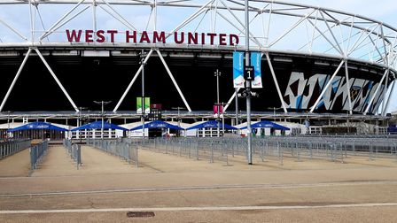 The match took place at the London Stadium. Picture: Ken Mears