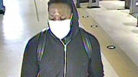 Police wish to speak to this man in relation to an assault at Wembley Central Underground Station. Picture: BTP