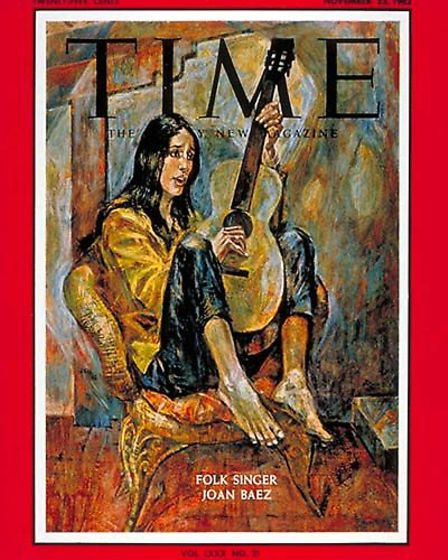 Joan Baez appeared on the front cover of Time Magazine in November 1962