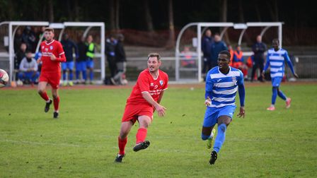 Ilford in FA Vase action against Benfleet (Pic: Tim Edwards)