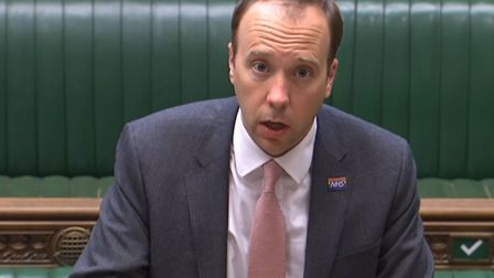 Health Secretary Matt Hancock in the House of Commons. Photograph: House of Commons/PA Wire