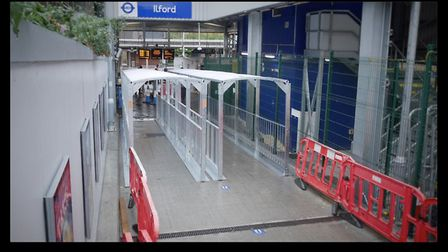 The shelters are at the temporary entrance at Ilford Hil to provide additional protection if there i