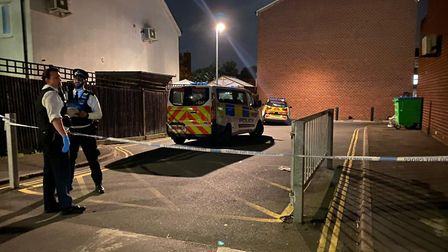 A teenager was stabbed in Feldman Close. Picture: @999London