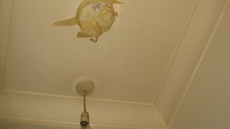 A smoke alarm has been taped over at this property in Seven Sisters Road. Picture: Islington Council