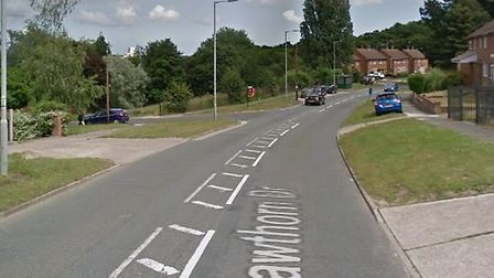 A teenager on a moped has stolen another teenager's phone in Hawthorne Drive Picture: GOOGLE MAPS