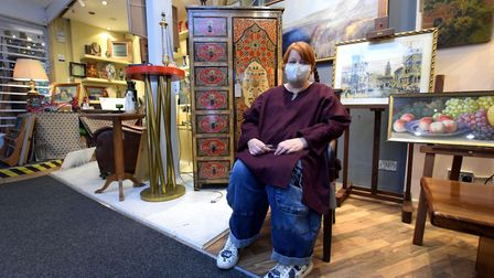 Tanya Bielschowsky at Hampstead Antique Emporium. Picture: Polly Hancock