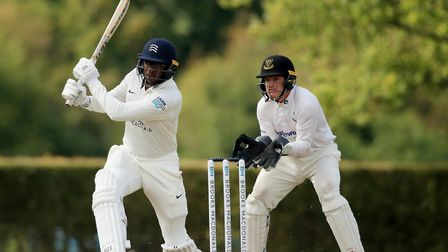 Middlesex's Miguel Cummings (left) batting during day two of the Bob Willis Trophy match at Radlett