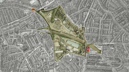 A map of the proposed development area in Kentish Town. Picture: Camden Council
