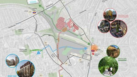 A diagram of planned developments in Kentish Town. Picture: Camden Council