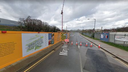 Works are underway on the Clarendon Square development, off of Mary Neuner Road. Picture: Google.