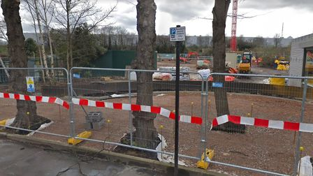 The Clarendon Square development site is visible from Hornsey Park Road. Picture: Google.