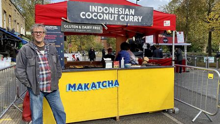 Jon Knowles, owner of Makatcha stall. Picture: Hayley Clarke