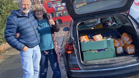 Volunteers Pam and Robert Nathan. Picture: Muswell Hill Foodbank