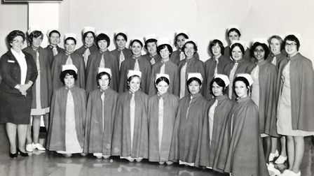 Nurses at Northwick Park Hospital when it opened in 1970. Picture: LNWH
