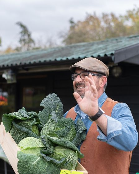 Ben Goodrum has set up a new farm shop near Claydon. Picture: SARAH LUCY BROWN