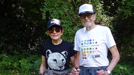 Angela and Martin Humphery who are still at their 'going bats' for wildlife fundraiser. Picture: Ang