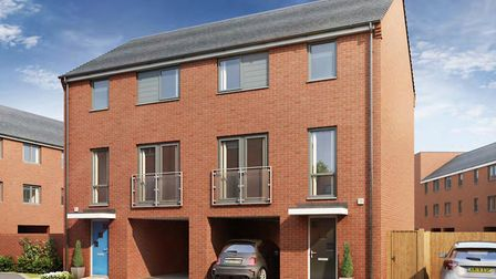 An artist's impression of the homes to be created by Persimmon Homes at Griffin Wharf in Ipswich Picture: PERSIMMON HOMES