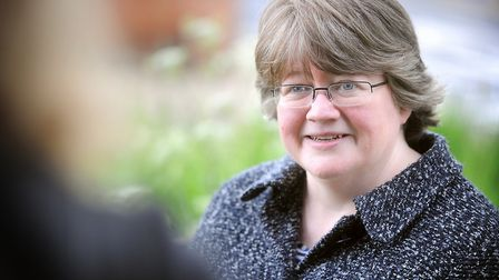 Therese Coffey hopes that freeports could bring more jobs to Felixstowe Picture: GREGG BROWN