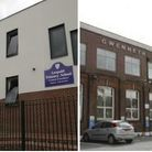 Leopold Primary School has two sites in Hawkshead Road, left, and Brentfield Road
