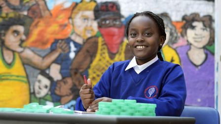 Young people aged eight to 11 worked with Artist Helena Doyle to create an art piece for London Craf