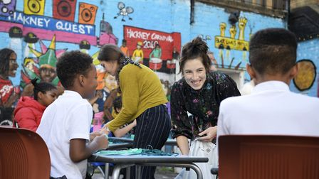 Artist Helena Doyle led the arts project set up by Hackney Arts. Picture: Christian Sinibaldi