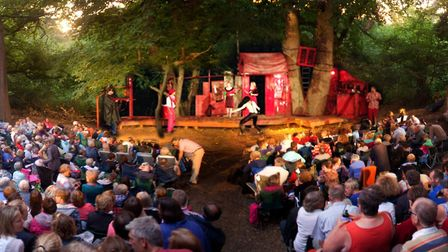 The audience for Red Rose Chain's acclaimed Theatre in the Forest residency Photo: Red Rose Chain