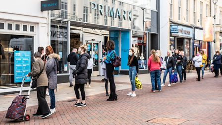 People were queueing down the street for Primark. Picture: SARAH LUCY BROWN