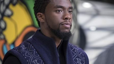 Chadwick Boseman in Black Panther. Costumes from the film will be on display at Christchurch Mansion from next April as...