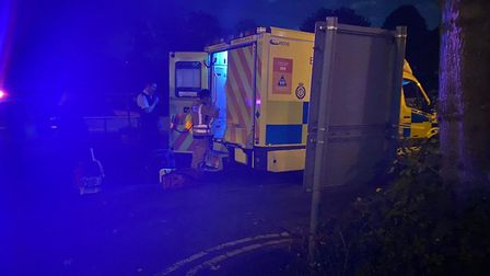 The victim was taken to hospital and his injuries have been assessed as not life threatning. Pictur