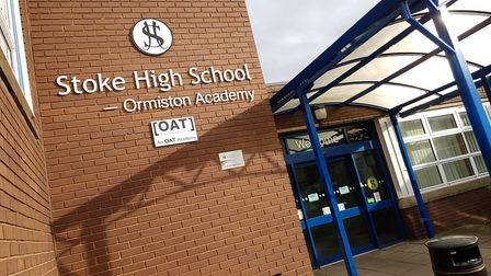 A student at Stoke High School in Ipswich has tested positive for coronavirus Picture: RACHEL EDGE