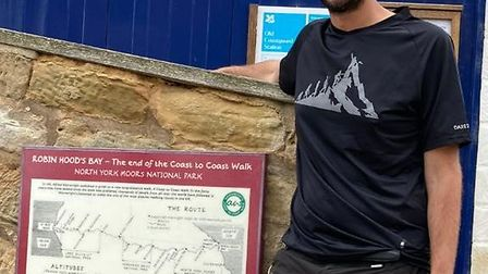 James in Robin Hood's Bay at the end of the walk. Picture: James Fox