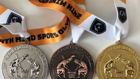The 24th annual Mind Sports Olympiad medals. Picture: Etan Ilfeld