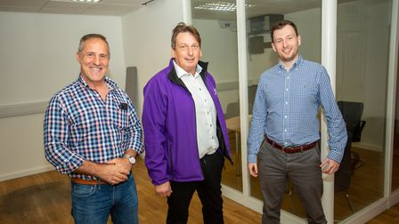 From left, Sege Rosella, Daniel Staines and Joseph Staines at Dream Hatcher in Ipswich PIcture: SIM